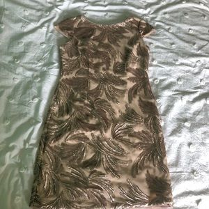 Adrianna Papell Sequin Cap Sleeve Cocktail Dress